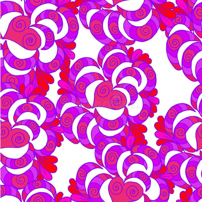 样式和心脏抽象装饰被画的背景  库存例证
