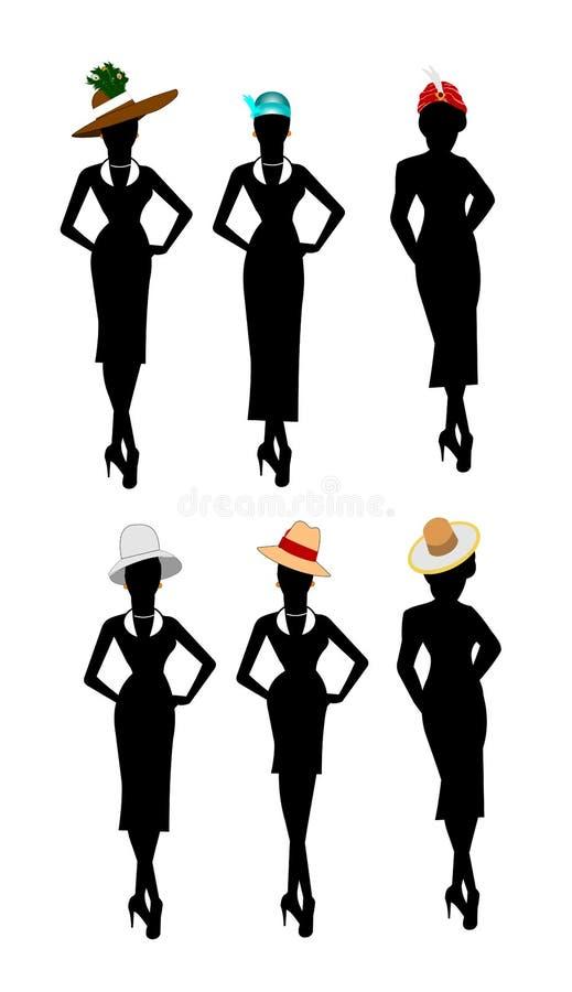 样式和时尚的夫人 向量例证