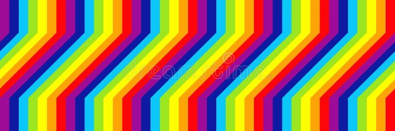 样式和背景的水平的典雅的彩虹设计 皇族释放例证