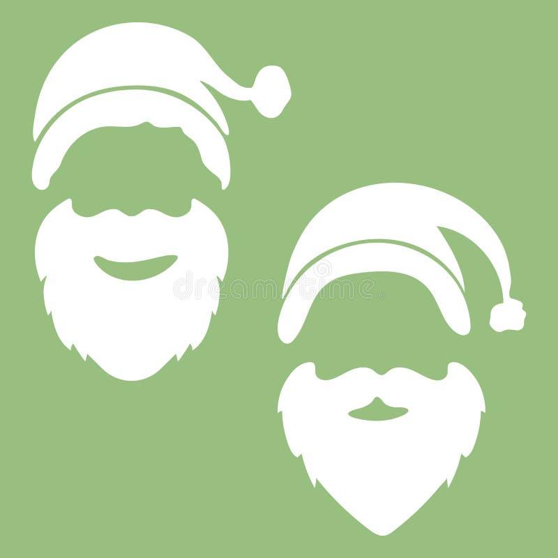 样式圣诞节与圣诞老人的贺卡设计 传染媒介il 库存例证