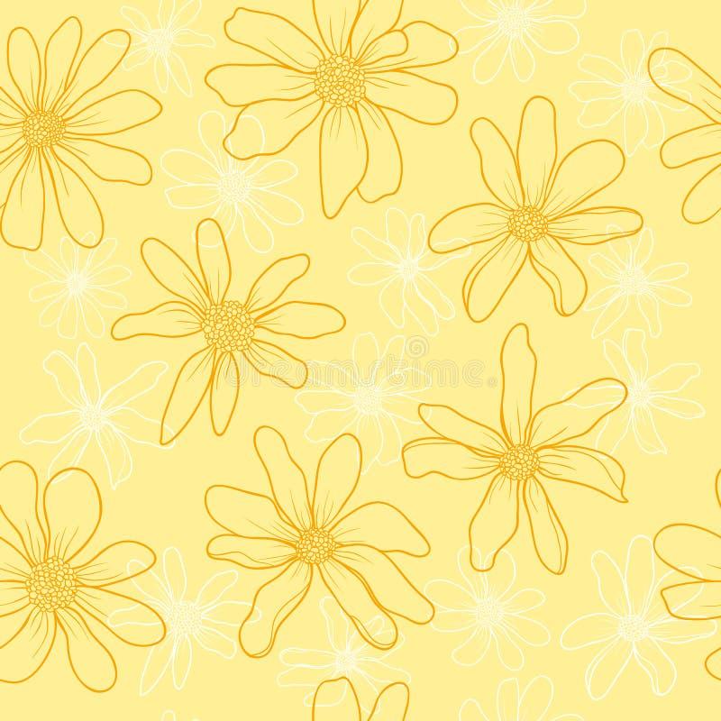 样式春天野花 向量例证