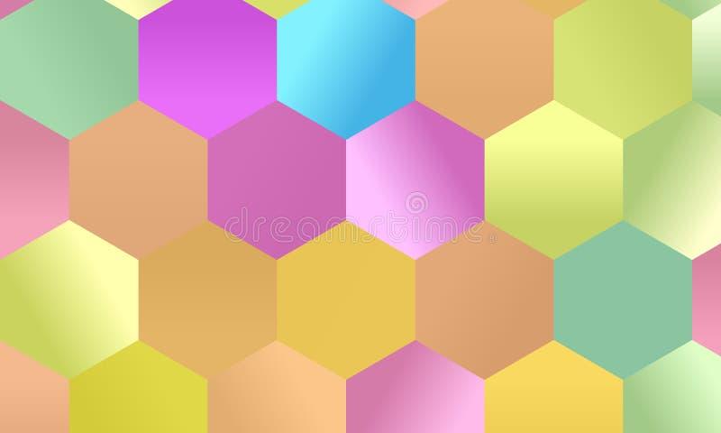 样式有多彩多姿的六角形简单的几何背景 马赛克样式 也corel凹道例证向量 库存例证