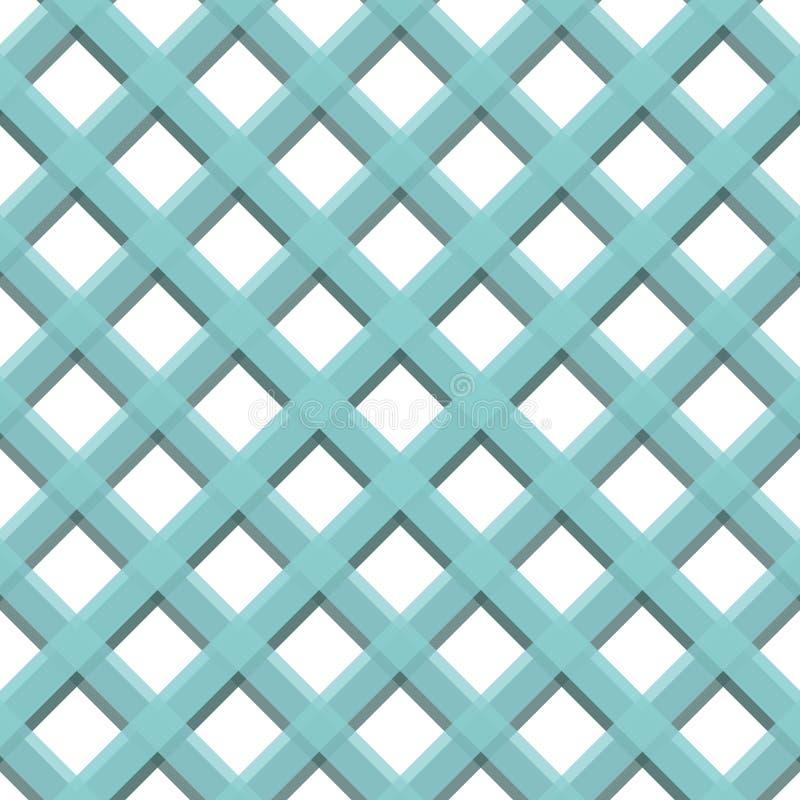 样式条纹无缝的甜蓝色两音色 对角条纹摘要背景传染媒介 库存例证