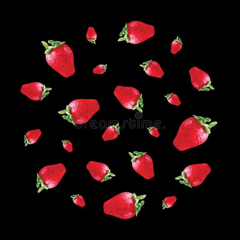 样式用草莓 免版税库存图片