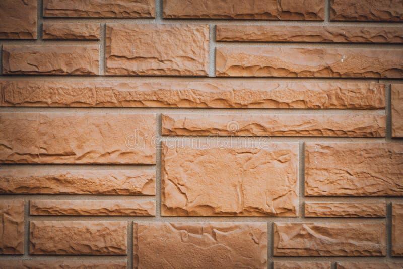 样式的红砖墙壁长方形形状背景纹理 免版税库存图片
