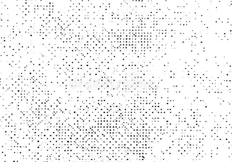 样式难看的东西背景,老困厄纹理覆盖物传染媒介,印刷品半音小点抓痕 皇族释放例证