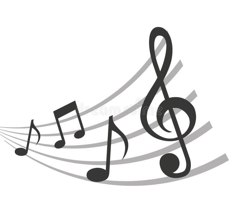 样式音乐笔记被隔绝的象设计 库存例证