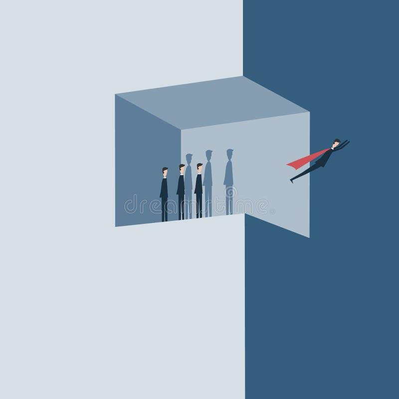 样式项目配合商人的概念例证作为队的 向量例证