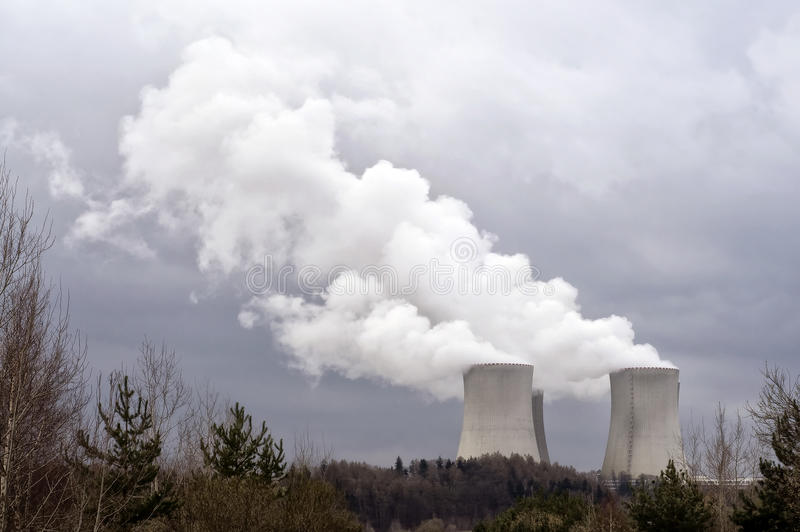 核发电站temelin 免版税库存图片