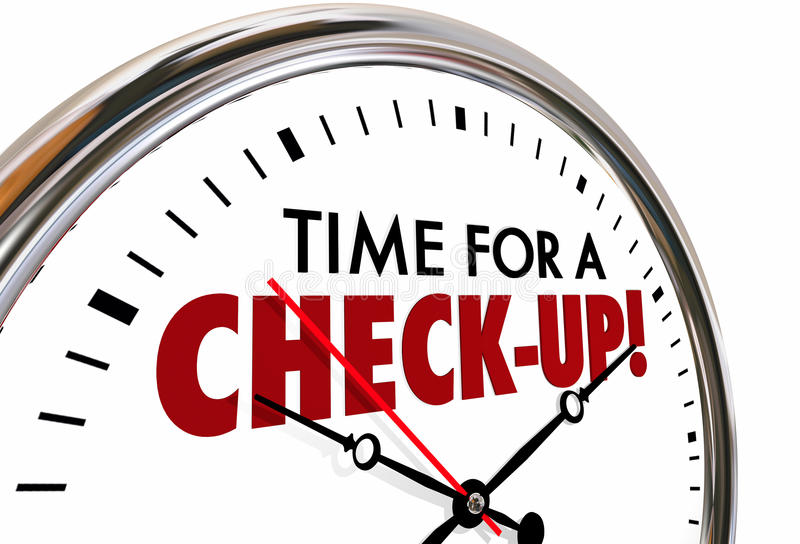 核对检查评估时钟的时刻 库存例证