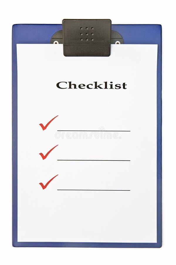 核对清单剪贴板 免版税库存照片