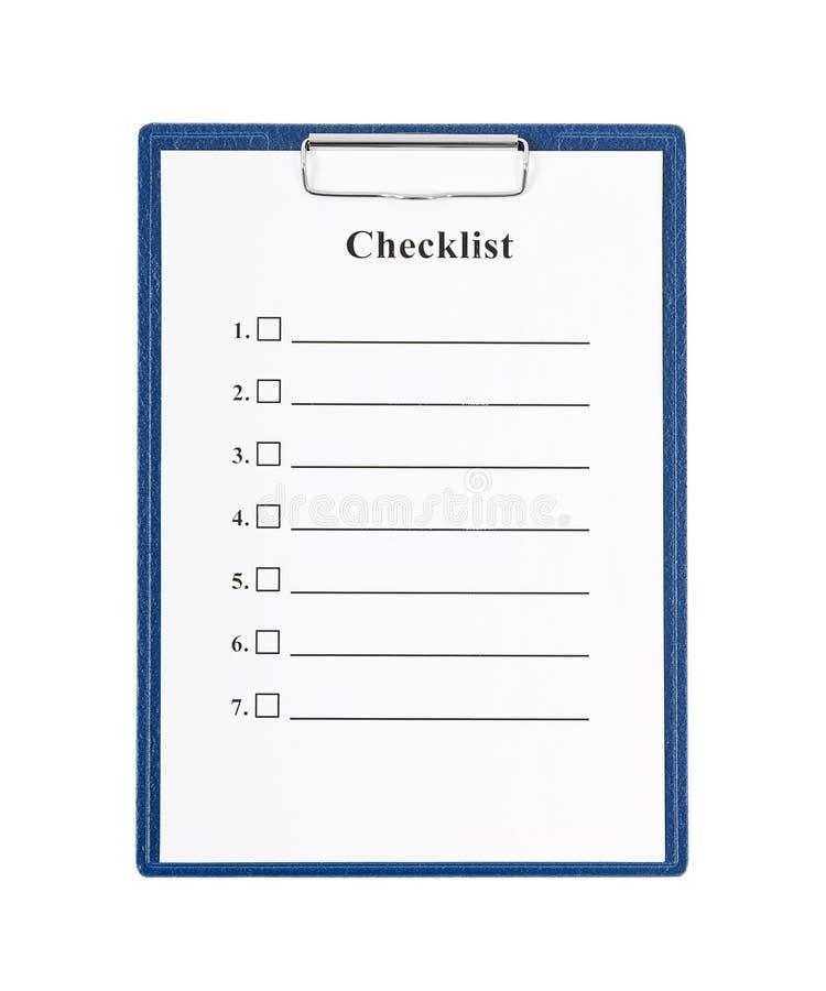 核对清单和剪贴板 库存图片