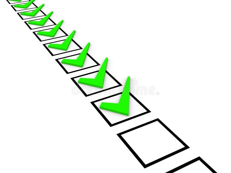 核对清单概念 库存例证