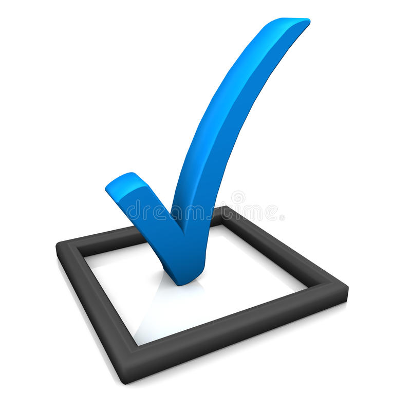核对清单符号蓝色 皇族释放例证