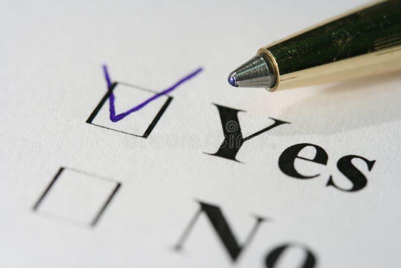 核对清单 免版税图库摄影