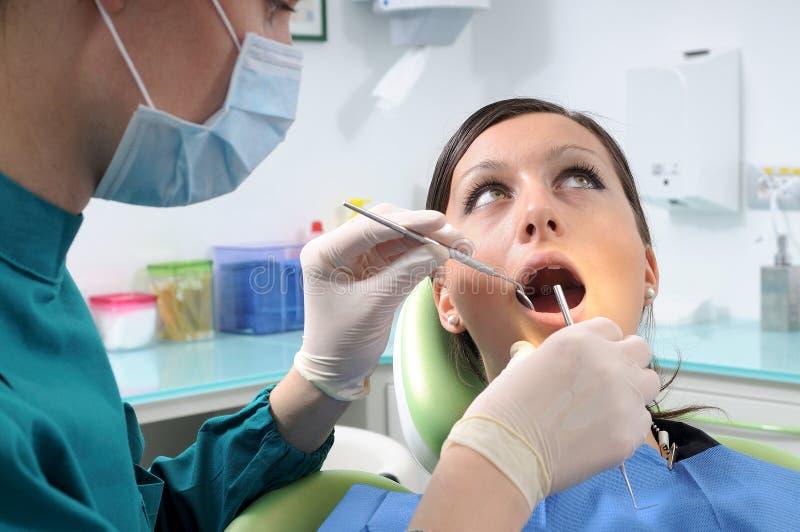 核对牙科医生 库存照片