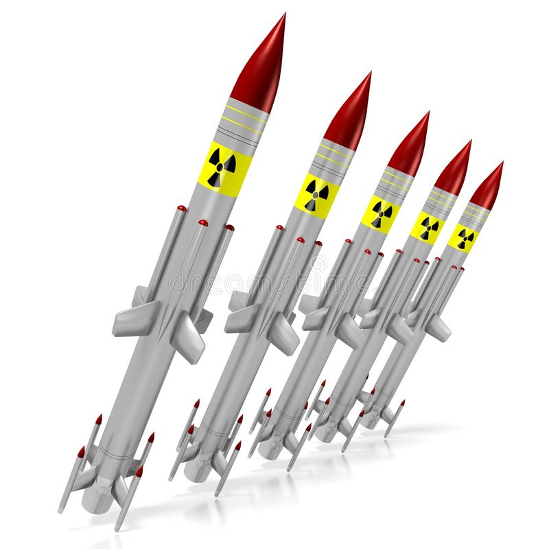 核导弹 皇族释放例证