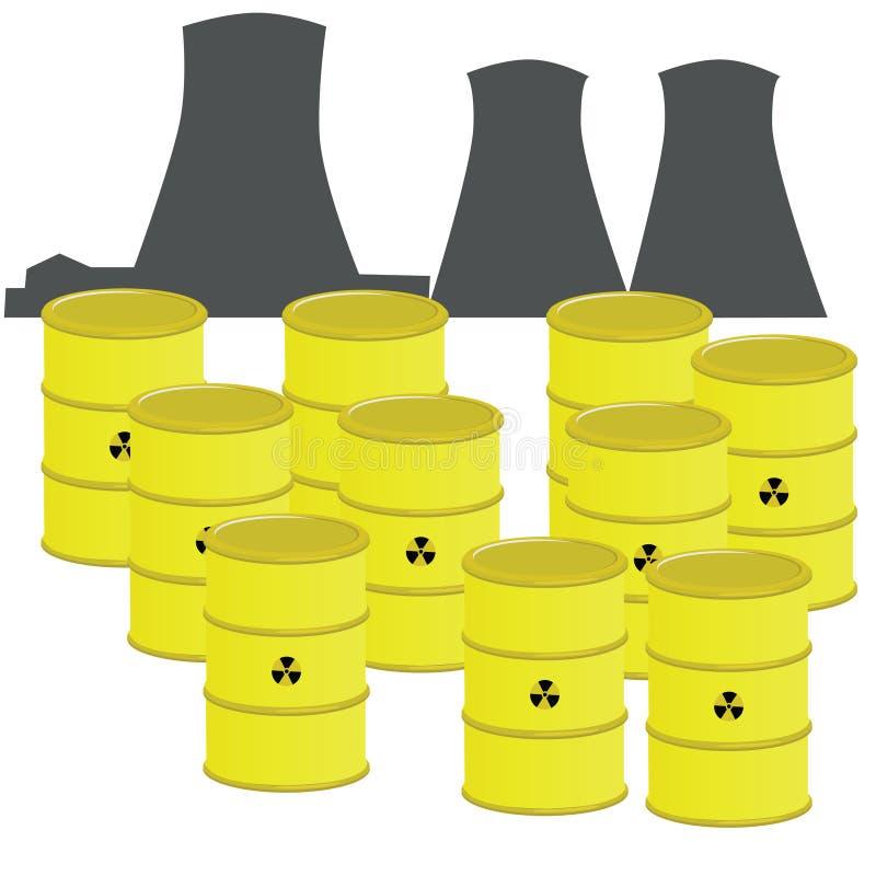 核废料 库存例证