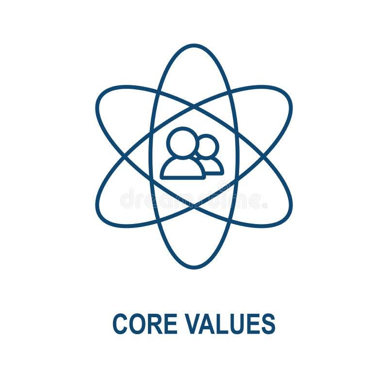 核心价值概述/线表达正直/目的象 皇族释放例证