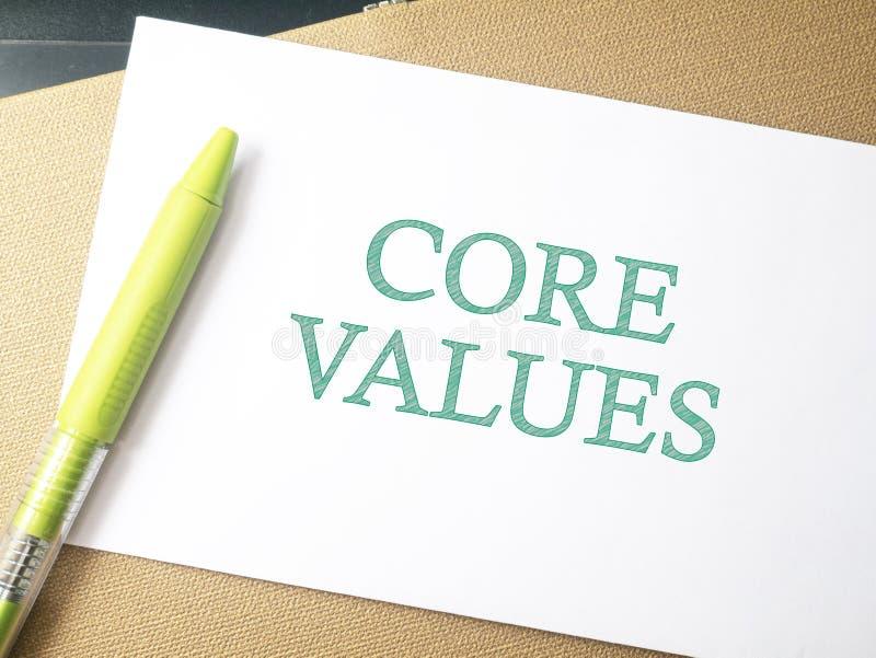 核心价值,商业道德诱导激动人心的行情 免版税图库摄影