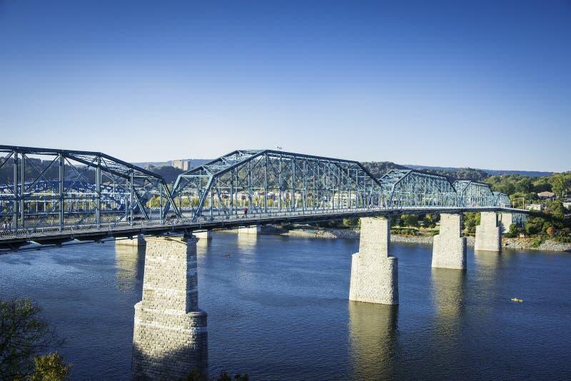核桃桥梁在加得奴加,田纳西 免版税库存图片