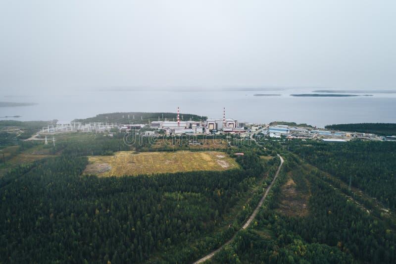 核电站装备一个原子反应堆 库存图片