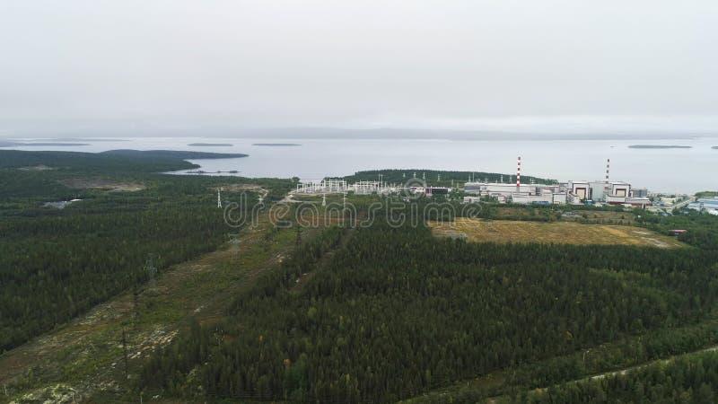 核电站装备一个原子反应堆 图库摄影