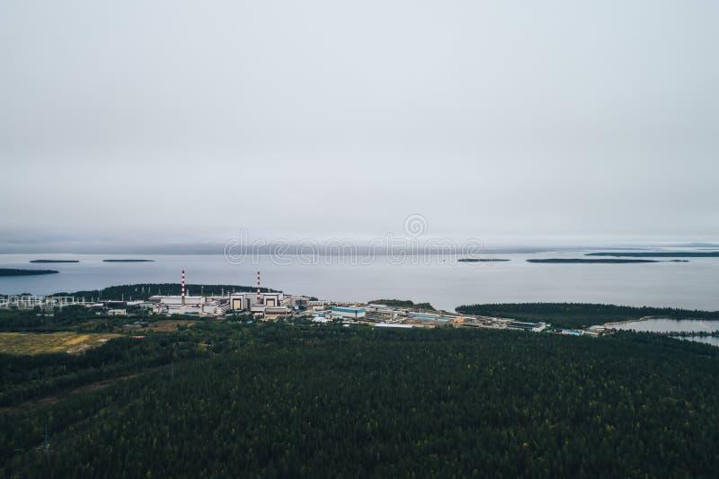 核电站装备一个原子反应堆 免版税库存图片