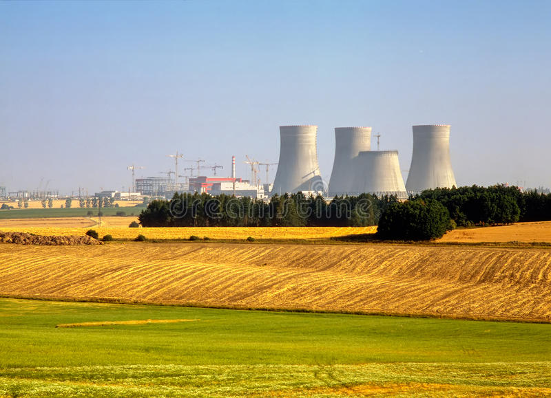 核电站, Temelin,捷克 免版税库存图片