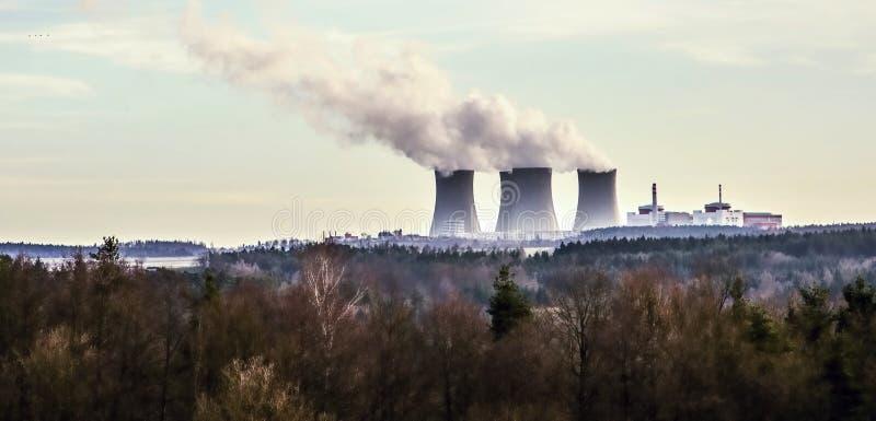 核电站Temelin,捷克 免版税库存图片