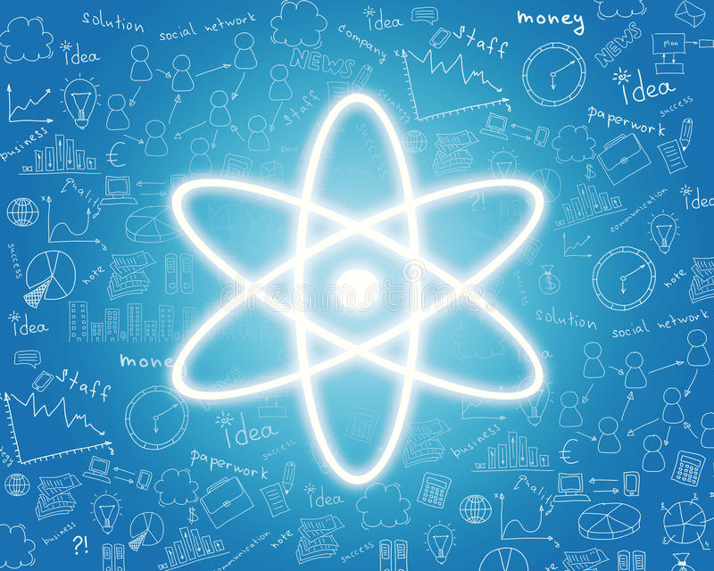 核能象 库存例证