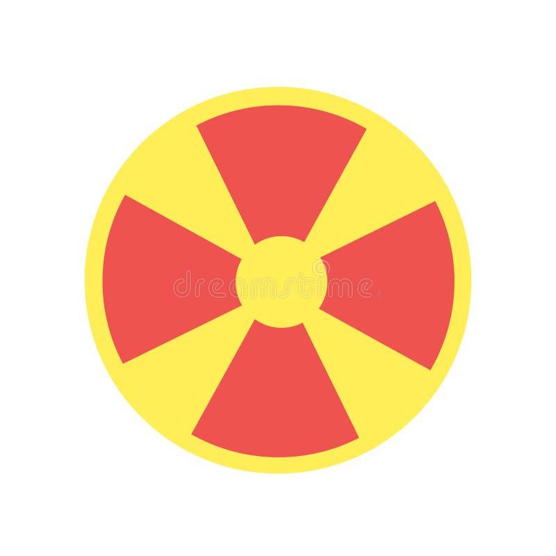 核象在白色背景隔绝的传染媒介标志和标志 库存例证