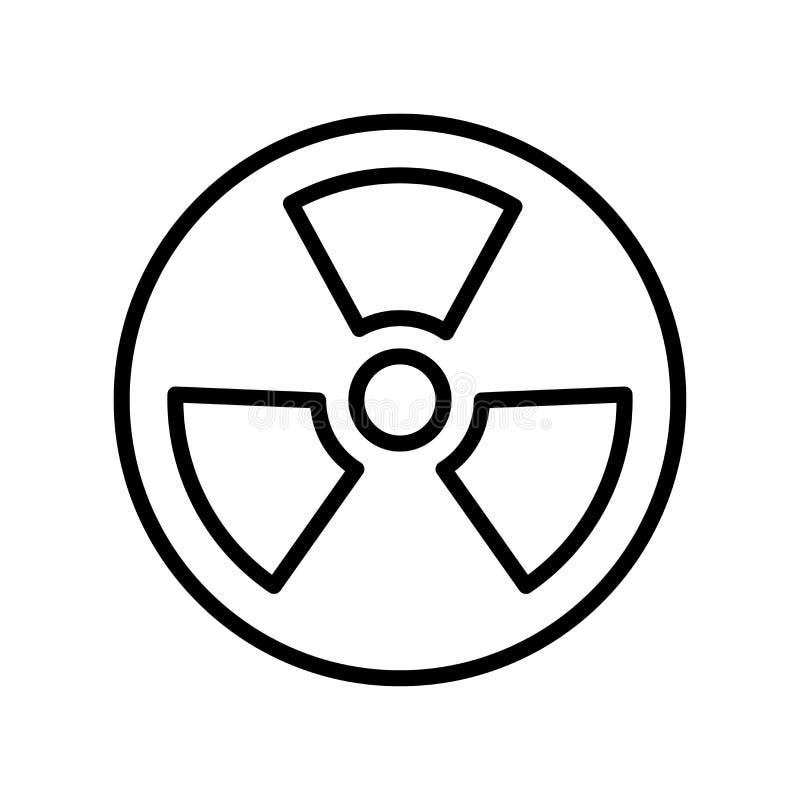 核象在白色背景隔绝的传染媒介标志和标志 皇族释放例证