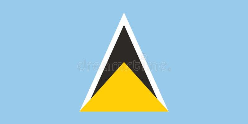 根据官员的圣卢西亚旗子的传染媒介图象和确切的圣卢西亚旗子维度&颜色 库存例证