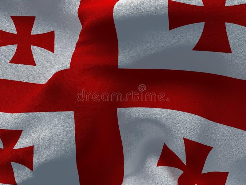 根据织品依据的乔治亚旗子 库存照片