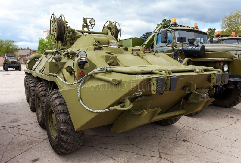 根据BTR-80的被转动的装甲的修理车 免版税库存照片