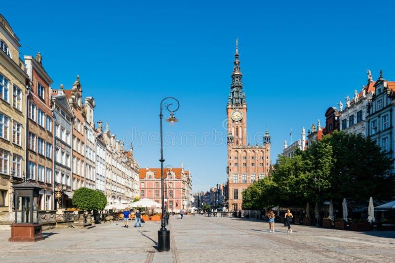 格但斯克老城镇,波兰 免版税库存照片