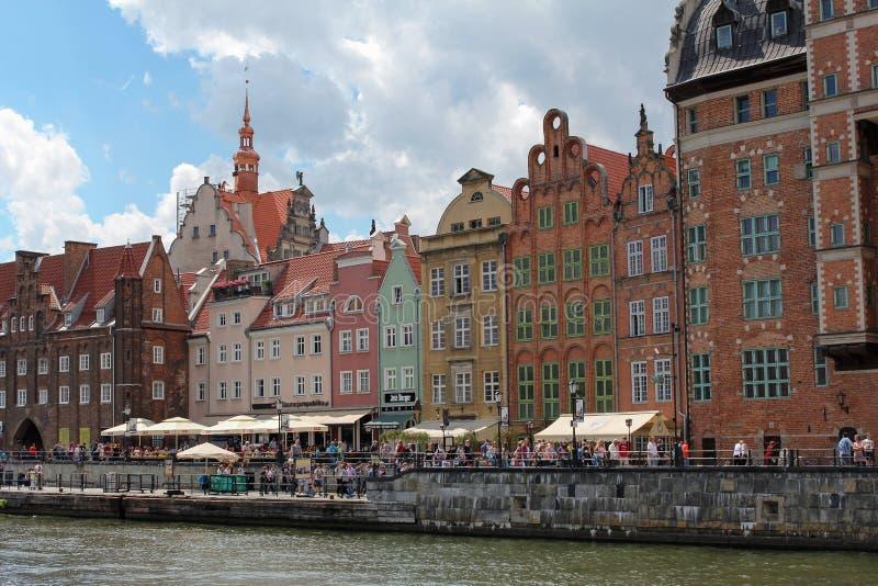 格但斯克老镇的美好的都市风景,波兰 免版税库存照片