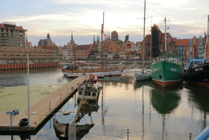 格但斯克老镇,波兰美丽的城市 免版税图库摄影