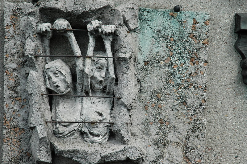 格但斯克造船厂雕象 库存照片