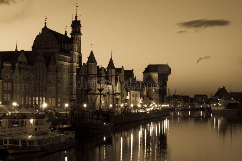 格但斯克都市风景,波兰 免版税库存照片