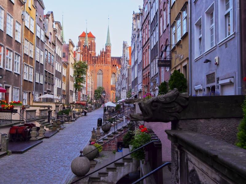 格但斯克,波兰五颜六色的房子  免版税库存照片