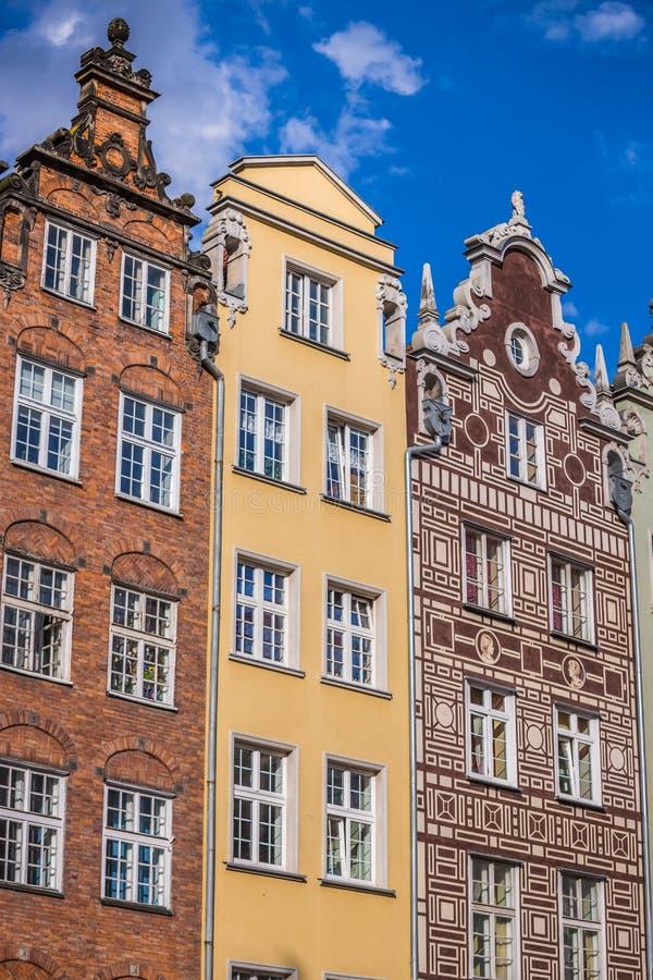 格但斯克,波兰老镇的美好的建筑学  库存照片