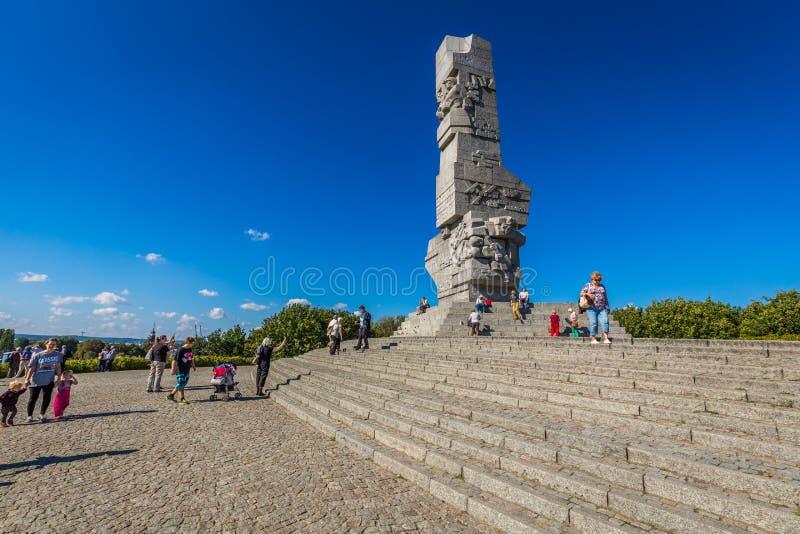 格但斯克,波兰9月19,2015 :访客被通知关于行动 免版税库存图片