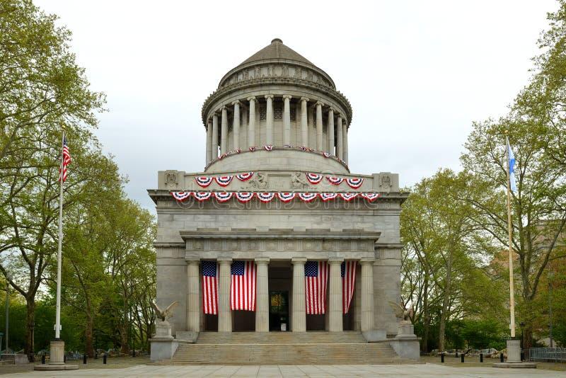 格兰特坟茔,叫作综合财政补贴全国纪念品、尤里西斯・格兰特长眠地,美国的第18位总统和h 库存照片