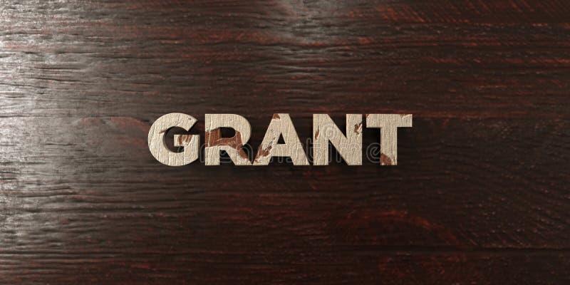格兰特-在槭树的脏的木标题- 3D回报了皇族自由储蓄图象 向量例证