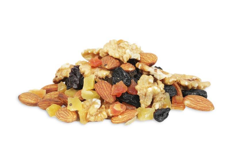 格兰诺拉麦片musli堆、堆,各种各样的种子和莓果,谷物,身体好的五谷 图库摄影