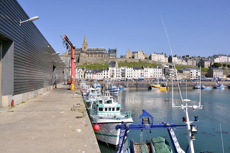 格兰维尔港在法国 免版税库存照片