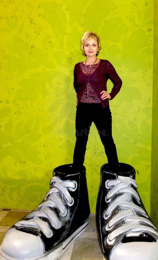 格列佛鞋子  库存图片