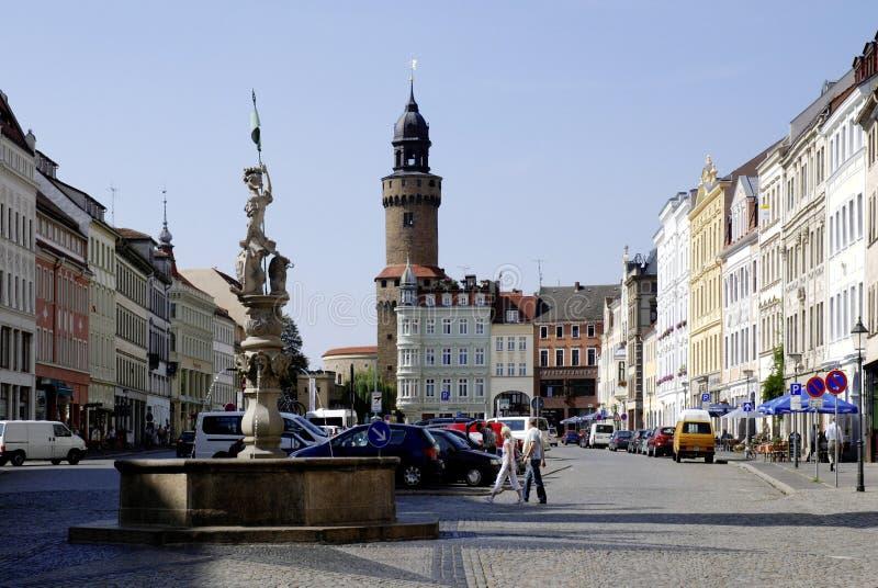 格利茨上部市场在德国 免版税库存图片